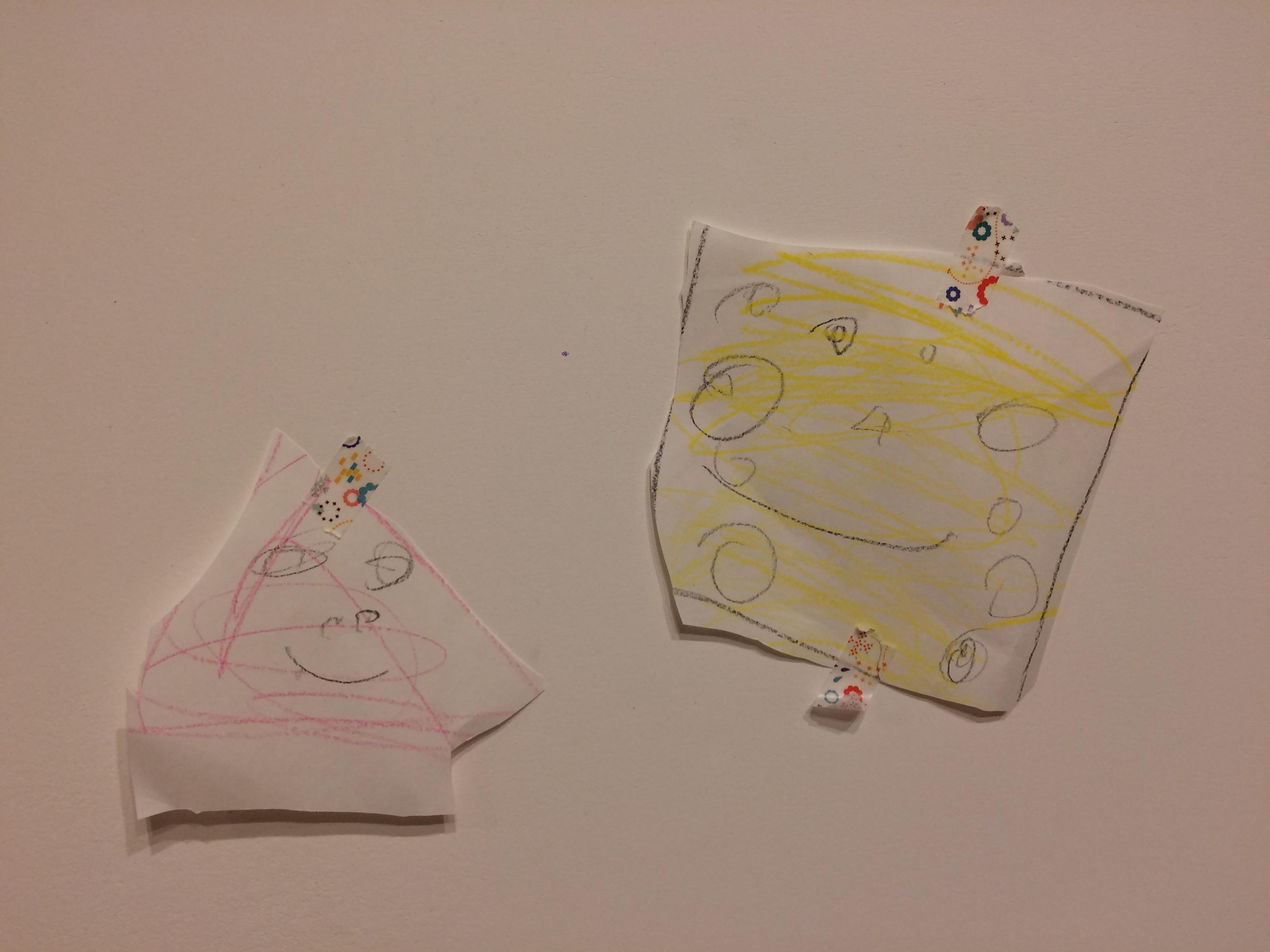 5歳前半で息子が描いたもの作ったもの。